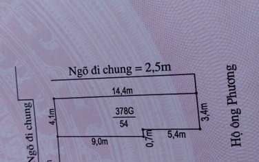 54 m2 residential land for sale in District An Duong
